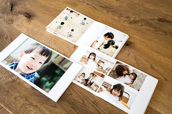 すくすく育つお子さんの写真をまとめた「孫ブック」