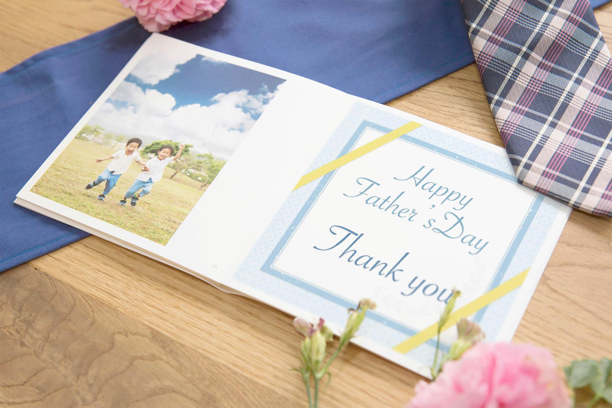 お父さんへ日頃の感謝のキモチを込めて贈るフォトブック。