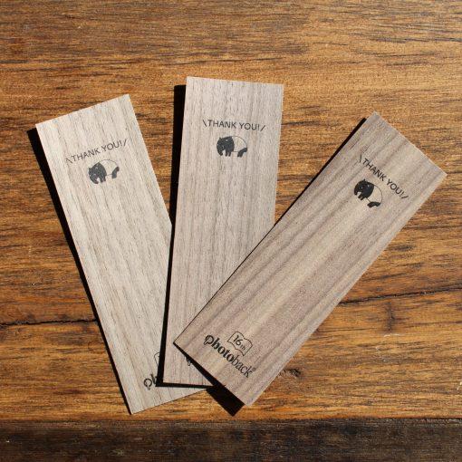 Photoback(フォトバック)オリジナル木製しおり